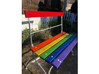 Bright and summery garden Bench