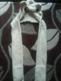 One size all in one hat scarf