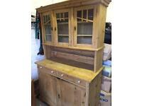 Vintage stripped pine wooden dresser