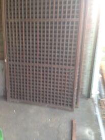 Solid mahogany partitions