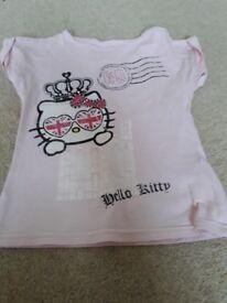 Pink hello kitty top