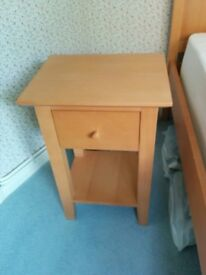 Bedside table with single drawer from John Lewis Barton range