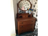 Beautiful Oak dressing table chest of drawers