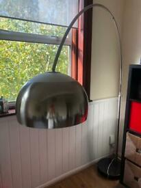 Contemporary retro arched floor lamp
