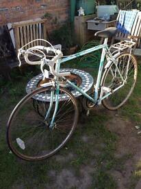 Vintage Triumph Road Racing Bike