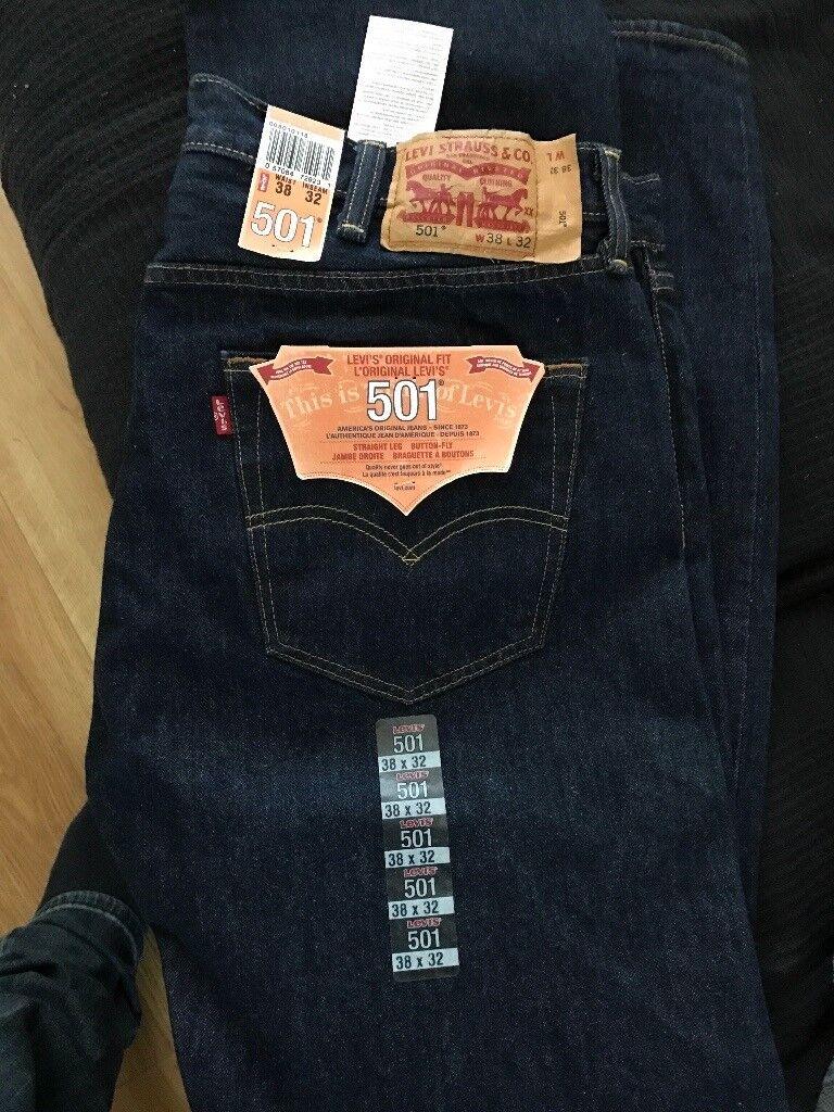 Levi jeans 501 original fit 38 waste 32 leg