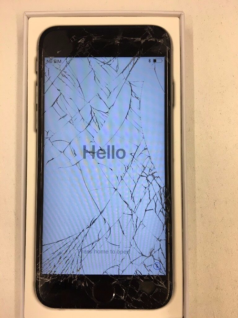 iPhone 6s, Space Grey, 64GB - Cracked screen - O2 network