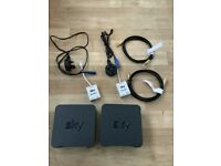 Set Of 2, Sky WIFI Router modem, Model SR102, Full Set With Cables