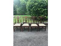 4 elaborate hardwood dining chairs