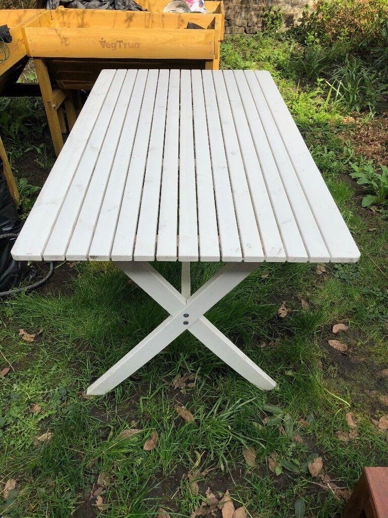 Ikea garden table white camden town