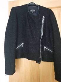 River island tweed jacket size UK 18