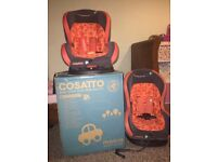 Cosatto car seat x2 9months-4years (9-18kg)