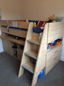 Gautier cabin bed, shelf and drawer unit