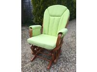 Dutailier Nursing Chair - Good condition - Lime Green Cushions - Rocker