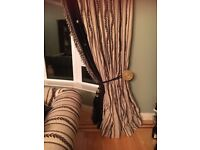 Curtains are thermal interlined sateen linning