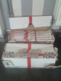 Box of 48 England flags (world cup/carboot/joblot/football)