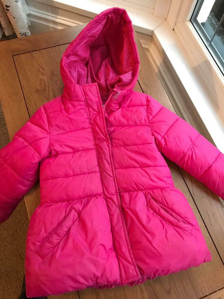 bfcd2f4391d2 M S Girls Coat aged 5-6