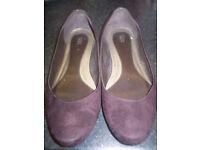 Marks & Spencer Brown Suedette Shoes Size 7.5