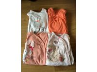 Baby Girl Next Sleepsuits x4 / 0-3 months