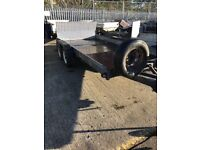13'5 by 6 feet car transport trailer which tilt bed