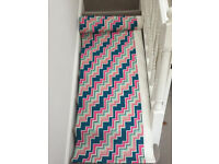 New Heals Fabric/Curtain - Authentic 15m DECO ZIGZAG by Ottilie Stevenson pink blue white green