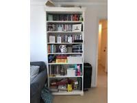 White IKEA bookshelf