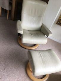 Cream stressless Armchair