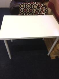 White dining table