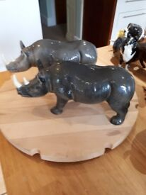 MELBAWARE Large Bison, Small Bison Light Rhino, Dark Rhino
