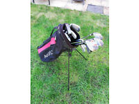 Ideal starter set - full set of clubs and bag