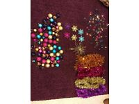 Colourful Christmas tree decorations