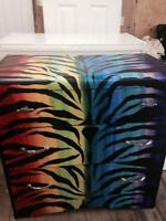 Zebra Custom Painted Solid Wood Dresser