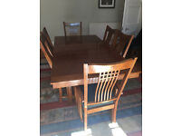 Solid Oak Extendable Dining Table and 8 Chairs