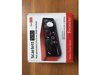 Focusrite Scarlett Solo (2nd Gen) USB Audio Interface with Twin RCA to XLR cables