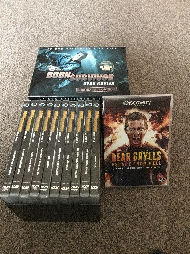DVDs bear gryls and others