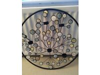 Mother of pearl wall art candle holder
