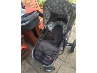 Cosatto Mobi Pushchair, carrycot and accessories