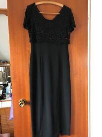 Long Black Evening/Cocktail Dress Size 10