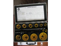 Preowned and used Faithfull Universal Holesaw Kit In Case