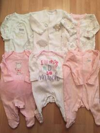 Bundle of baby grows 0-3 months