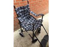 Coopers lightweight wheelchair folding