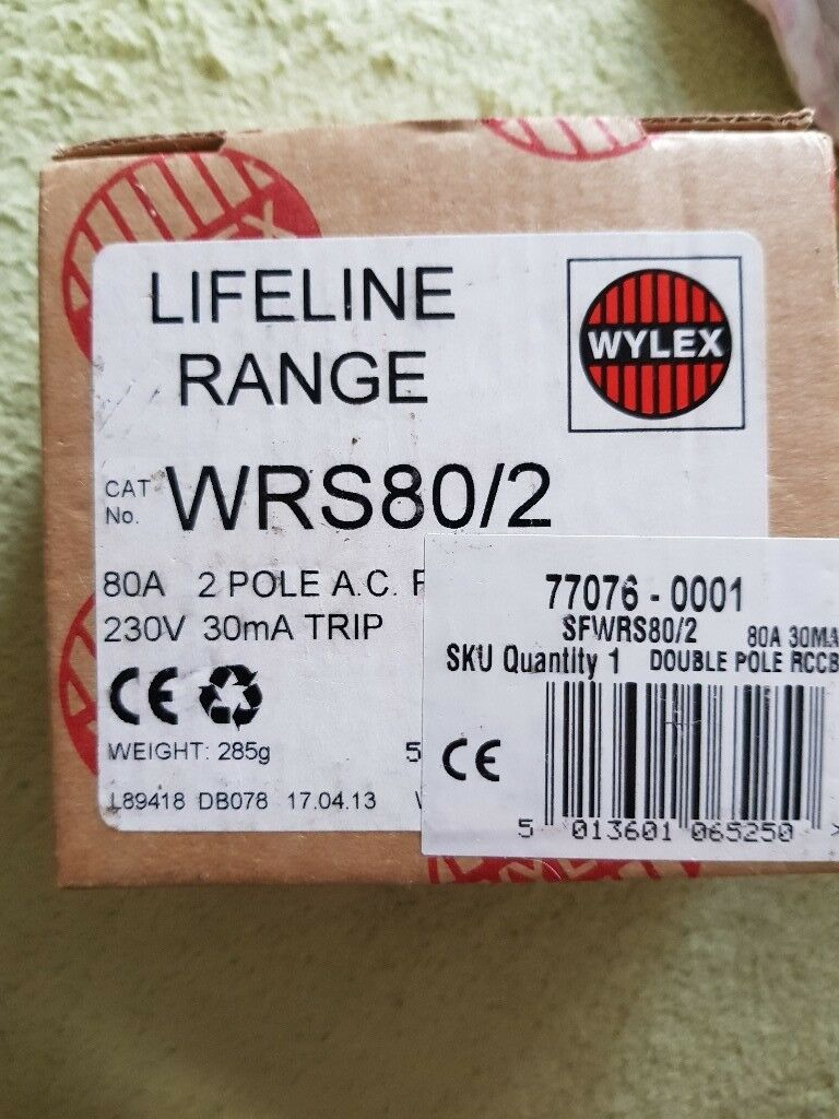Wylex lifeline range 230v 30mA trip switch