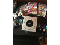 GameCube with 3 Controllers, 2 Games and Memory Stick