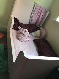 Pink Toddler IKEA expandable bed