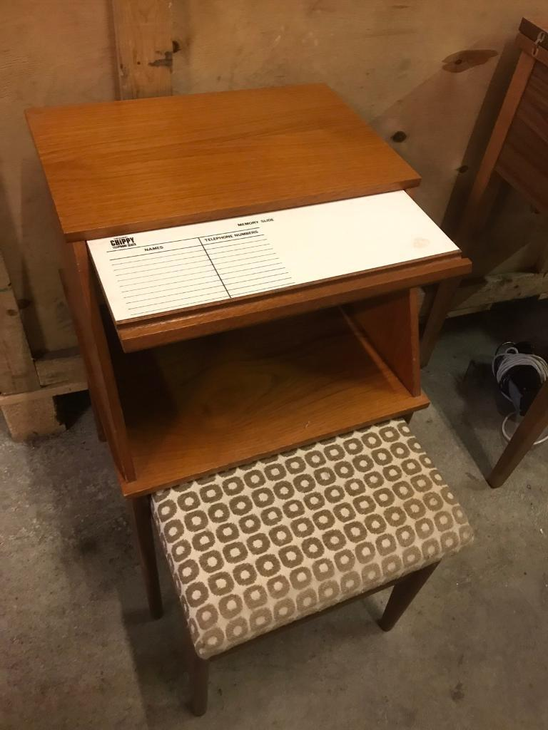 Small Vintage Telephone Table by Chippy
