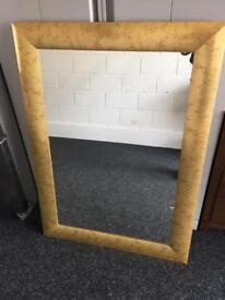 Large gold frame mirror