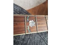 Westfield pro series Electric acoustic guitar mother of pearl