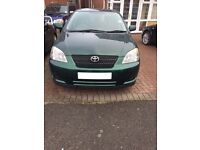 Toyota corolla 04 plate, 1.4 engine, 5 door, petrol, 3 owners with service history