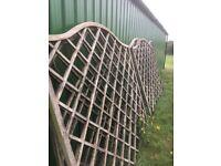 Garden trellis panels 5 for sale reasonable condition