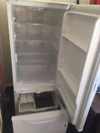 Sharps fridge freezer white opens both sides pull out freezer draw